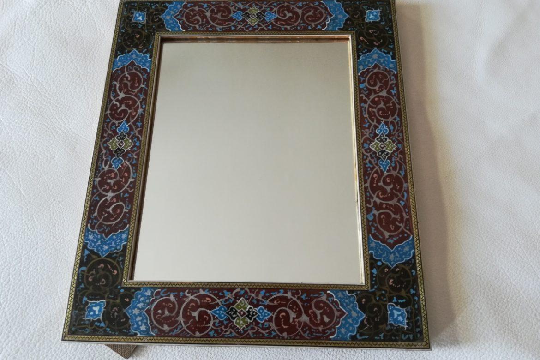 Cadre miroir marqueterie peinte _Galerie Shirazi_Pau_P1-10