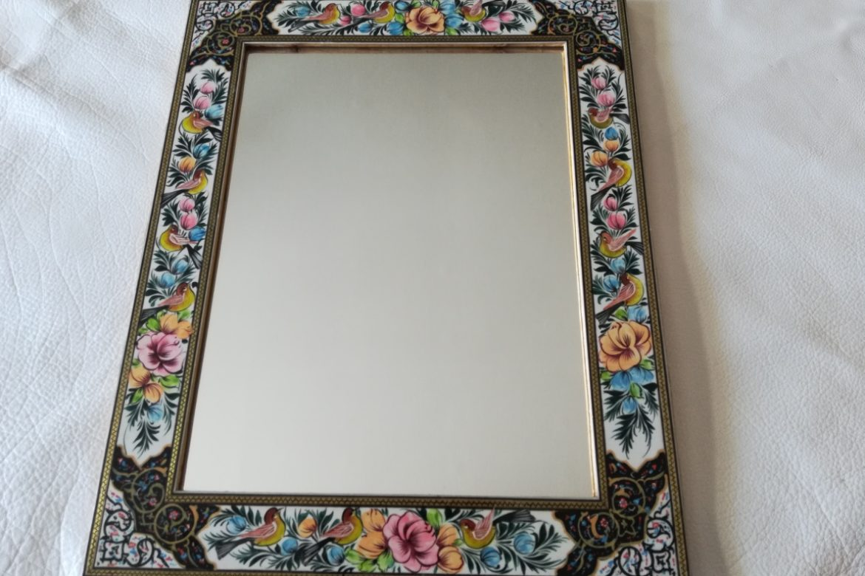 Cadre miroir marqueterie peinte _Galerie Shirazi_Pau_P1-17
