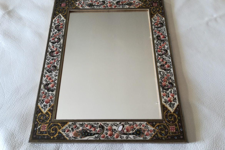 Cadre miroir marqueterie peinte _Galerie Shirazi_Pau_P1-18