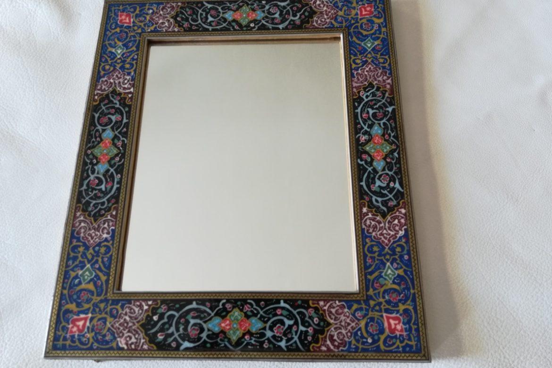 Cadre miroir marqueterie peinte _Galerie Shirazi_Pau_P1-8