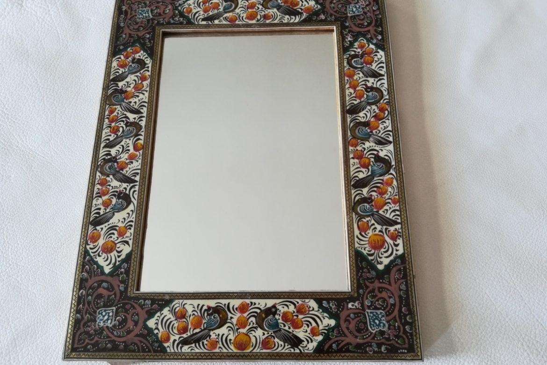 Cadre miroir marqueterie peinte _Galerie Shirazi_Pau_P1-9