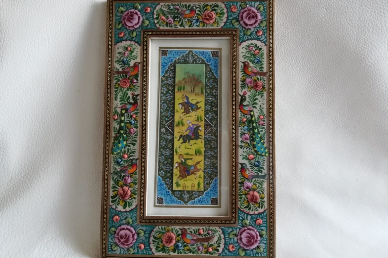 Cadre peinture miniature persane_Galerie Shirazi_Pau_A1SA