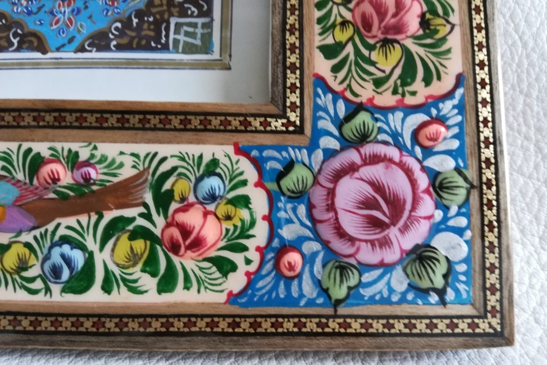 Cadre peinture miniature persane_Galerie Shirazi_Pau_A2SA.a