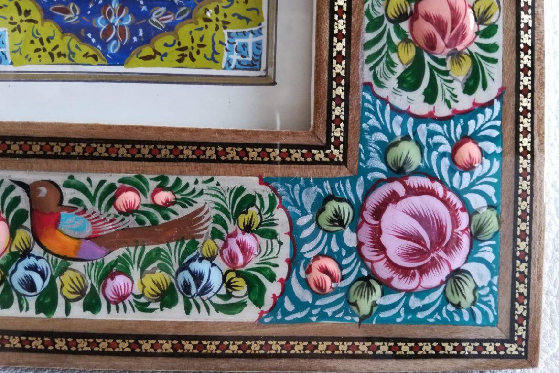 Cadre peinture miniature persane_Galerie Shirazi_Pau_A3SB.a
