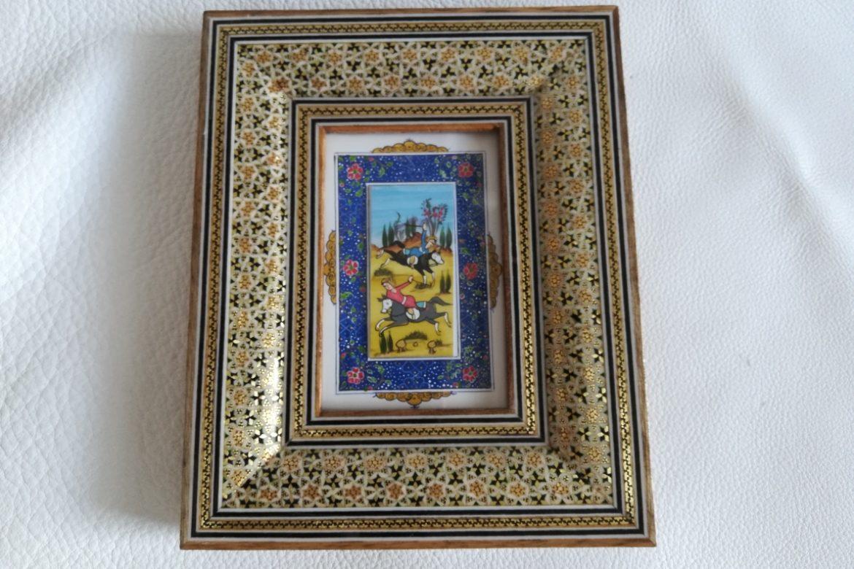 Cadre peinture miniature persane_Galerie Shirazi_Pau_A7SC