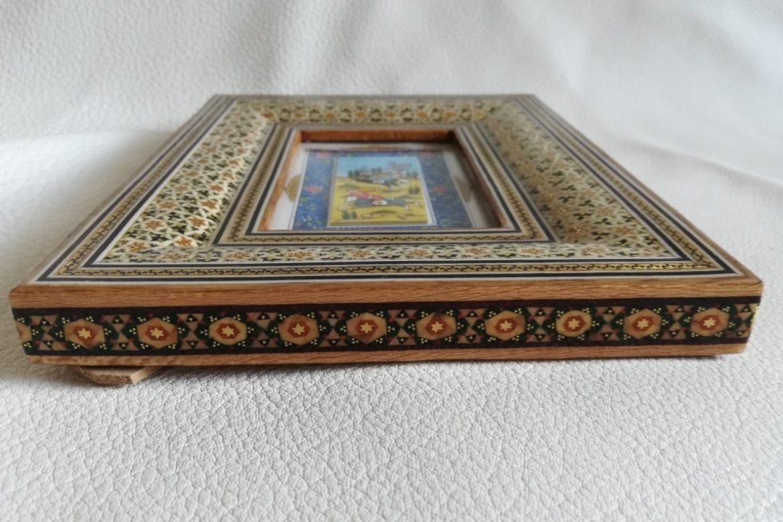 Cadre peinture miniature persane_Galerie Shirazi_Pau_A7SC.b