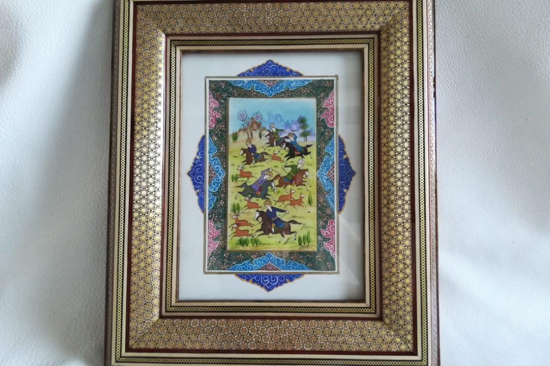 Cadre peinture miniature persane_Galerie Shirazi_Pau_A8S