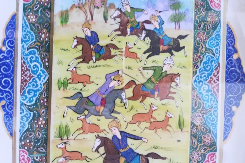 Cadre peinture miniature persane_Galerie Shirazi_Pau_A8S.b