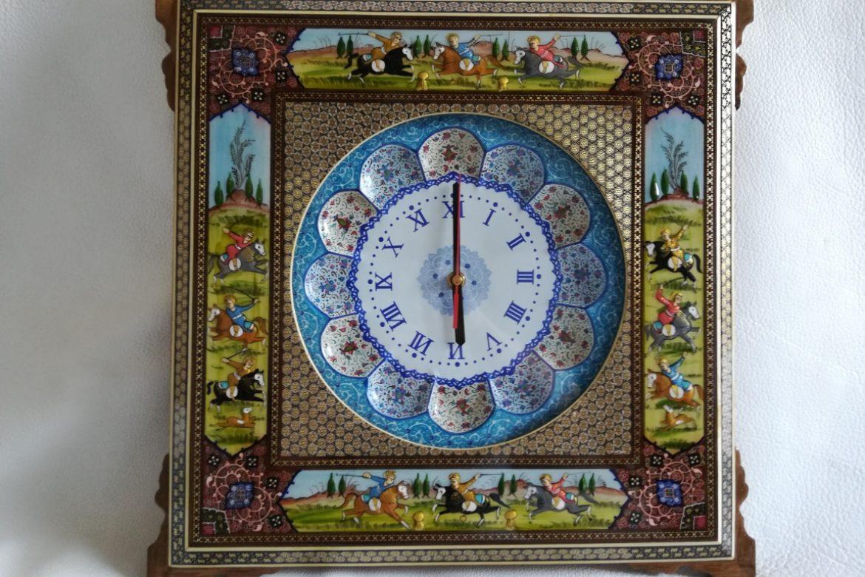 Cadre pendule murale peinture miniature persane_Galerie Shirazi_Pau_A14S