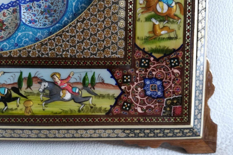 Cadre pendule murale peinture miniature persane_Galerie Shirazi_Pau_A14S.a