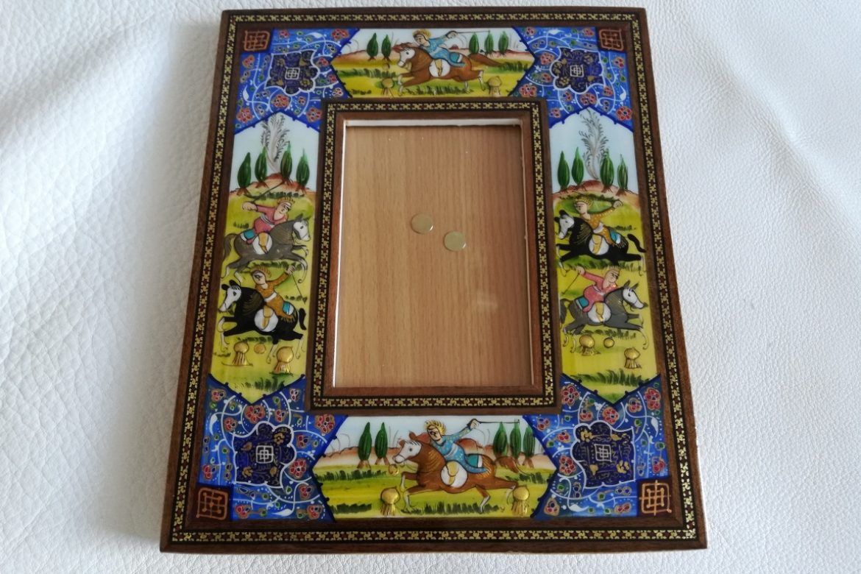 Cadre photo peinture miniature persane_Galerie Shirazi_Pau_A19SB