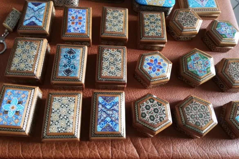 Diverses boite marqueterie perse_Galerie Shirazi_Pau_1