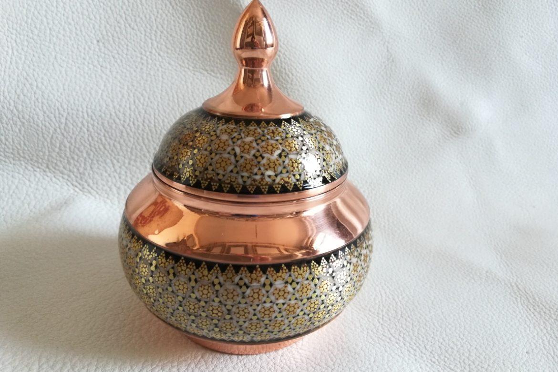 Grand sucrier en cuivre émaillé_Galerie Shirazi_Pau_C9SA