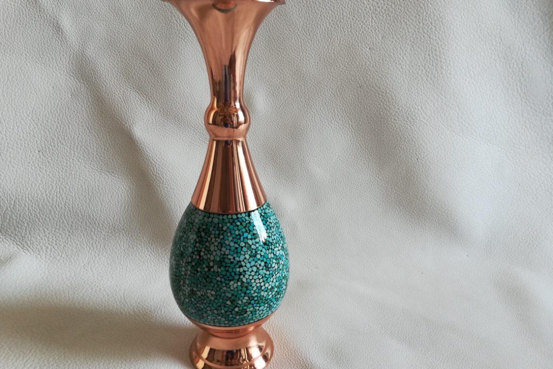 Grand vase cuivre et turquoise_Galerie Shirazi_Pau_C5S