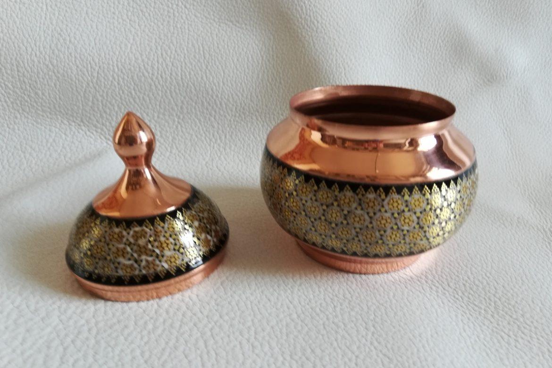 Petit sucrier en cuivre émaillé_Galerie Shirazi_Pau_C10SA.a