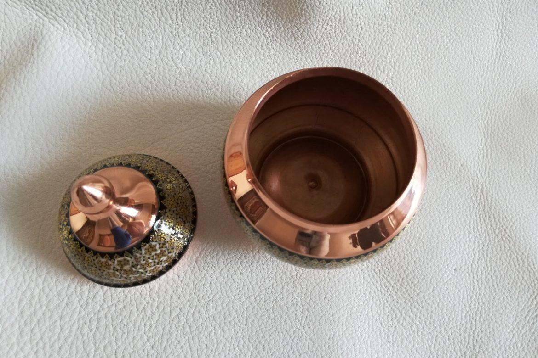Petit sucrier en cuivre émaillé_Galerie Shirazi_Pau_C10SA.b