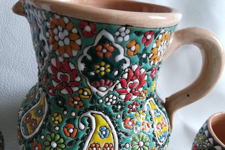 Service à eau perse céramique_Galerie Shirazi_Pau_B7S.a