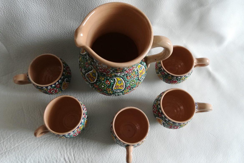 Service à eau perse céramique_Galerie Shirazi_Pau_B7S.b