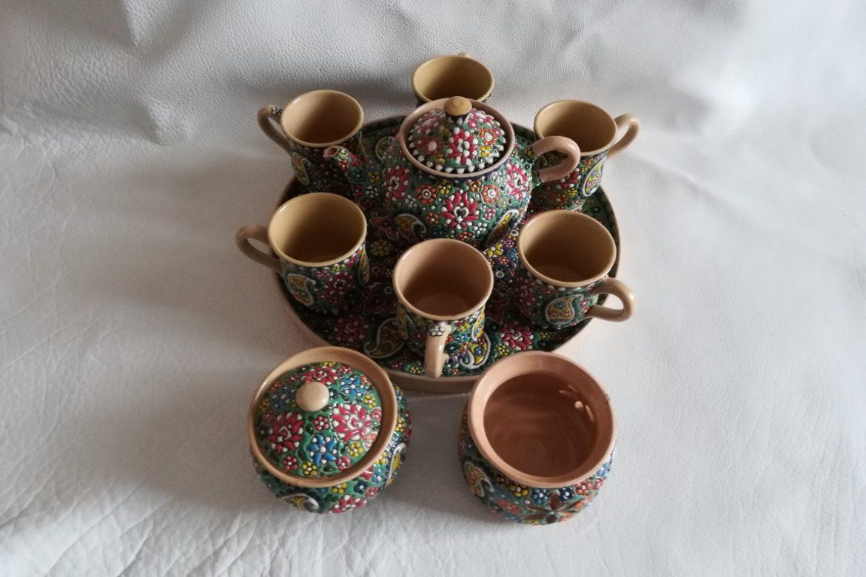 Service à thé persan céramique_Galerie Shirazi_Pau_B11S