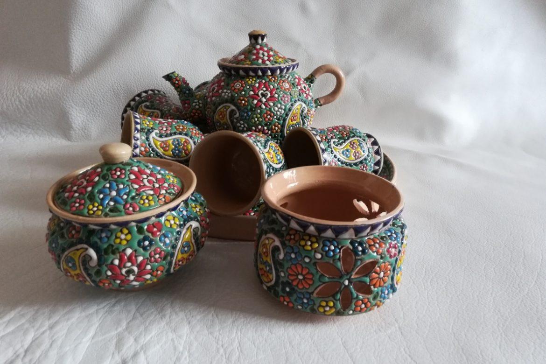 Service à thé persan céramique_Galerie Shirazi_Pau_B11S.a