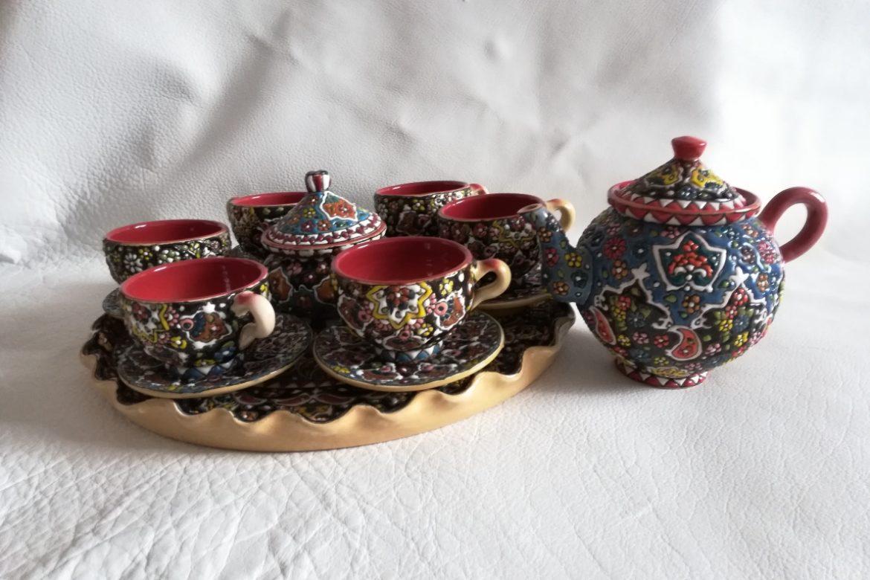 Service à thé persan céramique_Galerie Shirazi_Pau_B12S