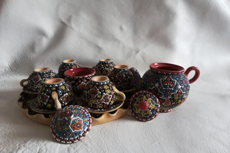 Service à thé persan céramique_Galerie Shirazi_Pau_B12S.a