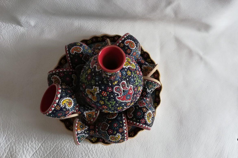Service à vin persan céramique_Galerie Shirazi_Pau_B13S.a