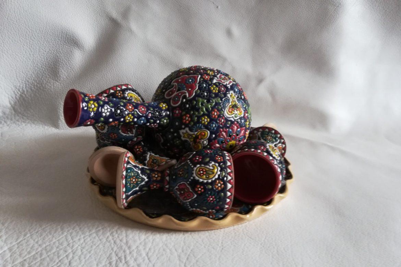 Service à vin persan céramique_Galerie Shirazi_Pau_B13S.b