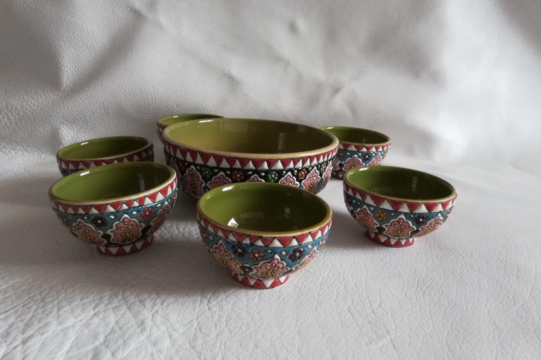 Set coupelles apéritif persan céramique_Galerie Shirazi_Pau_B19S