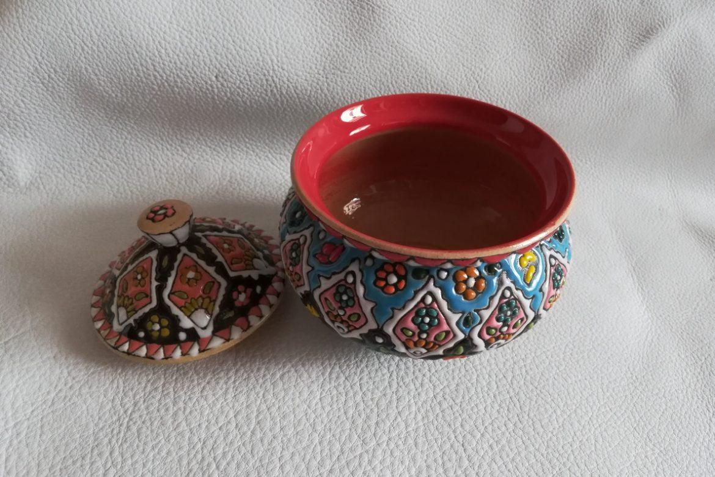 Sucrier persan céramique_Galerie Shirazi_Pau_B22SA.a