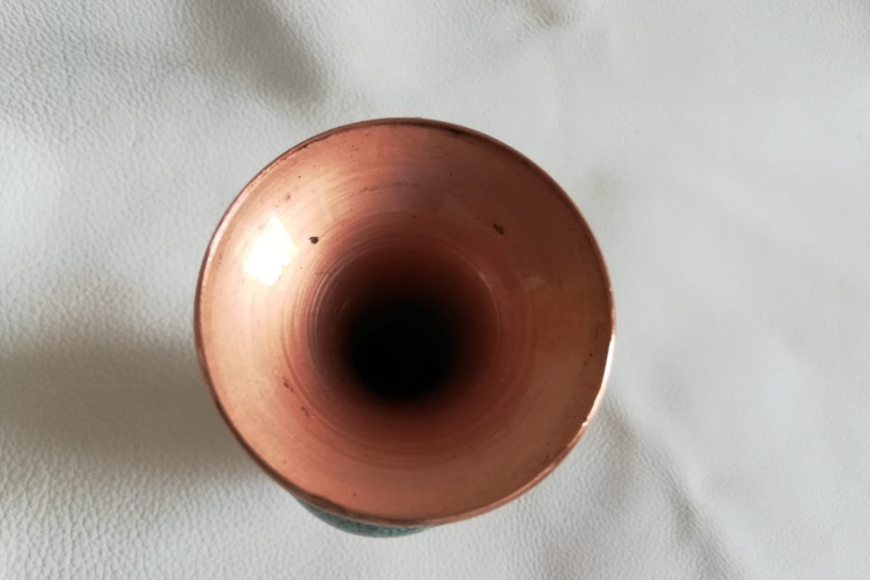 Vase moyen cuivre et turquoise_Galerie Shirazi_Pau_C6SB.b