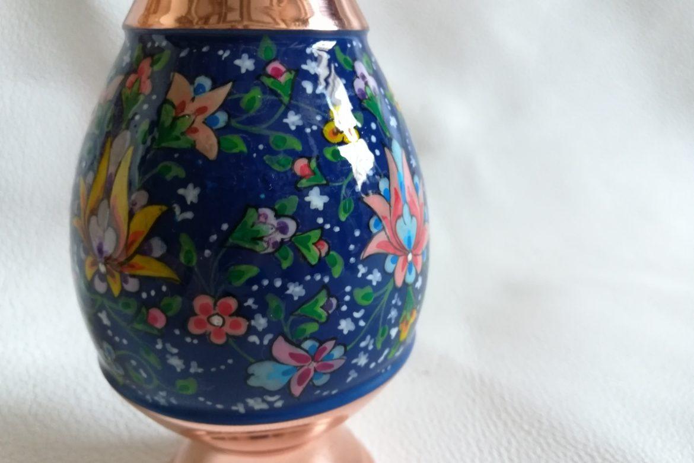 Vase moyen cuivre peint_Galerie Shirazi_Pau_C3SA.a